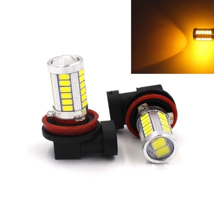 harga Lampu Foglamp H11 Led 33 Titik Lensa Projector Kuning Tokopedia.com