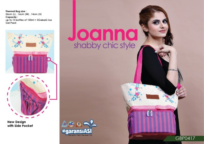 Cooler thermal bag gabag joanna tas asi bonus 2 ice gel besar