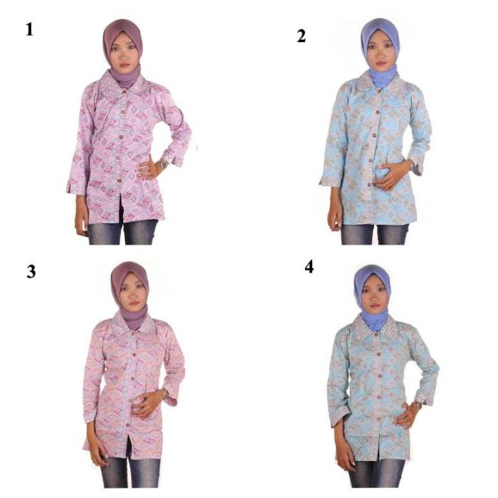 harga Blouse batik i blouse kerja wanita batik i blus batik wanita lili Tokopedia.com
