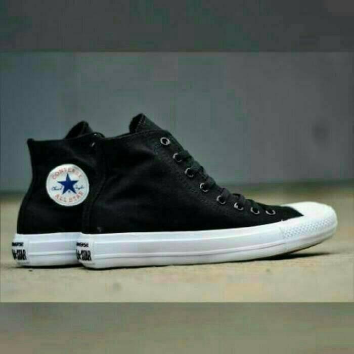 ... harga Sepatu converse ct ii mono high lunarlon black white hitam putih  murah Tokopedia.com 938f7b69ce