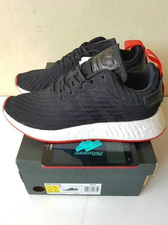 info for a9fd3 90493 Jual Sepatu Adidas NMD R2 Black Red / Bred Original - Kota Bandar Lampung -  About Shoes | Tokopedia