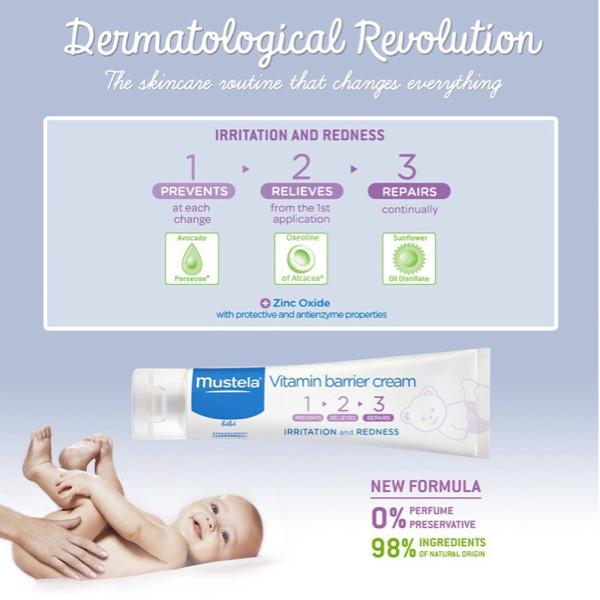 harga Free handuk mustela barrier cream/krim/lotion pelembab ruam popok Tokopedia.com