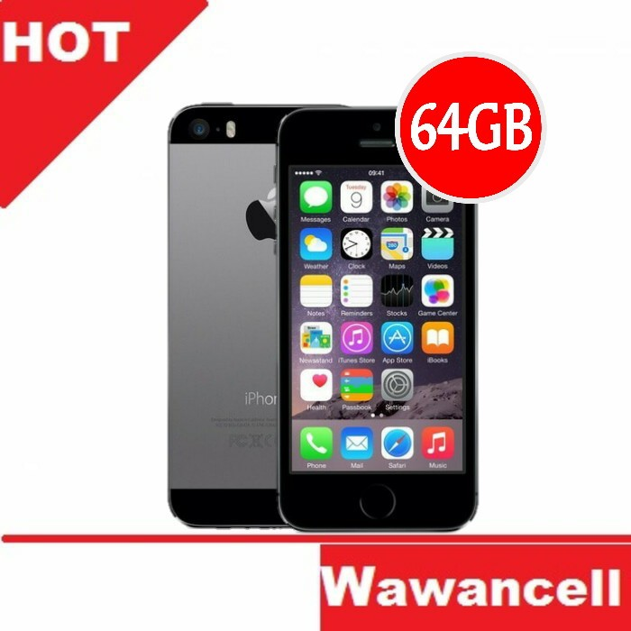Apple iphone 5s original - grey - 64gb - 4g lte -  garansi 1 tahun