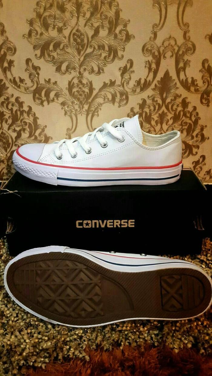 Jual Sepatu Converse Leather Cek Harga Di Putih Classic Full White Kulit Premium Import Vietnam Tokopediacom