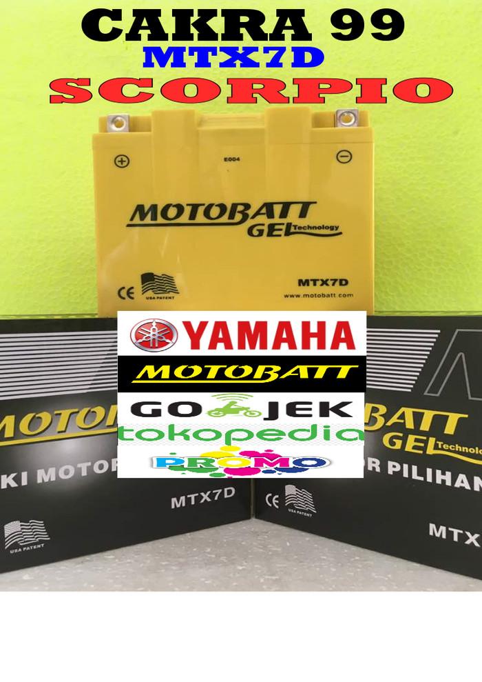 harga Aki motor yamaha scorpio motobatt mtx7d aki motor gel kering mf Tokopedia.com