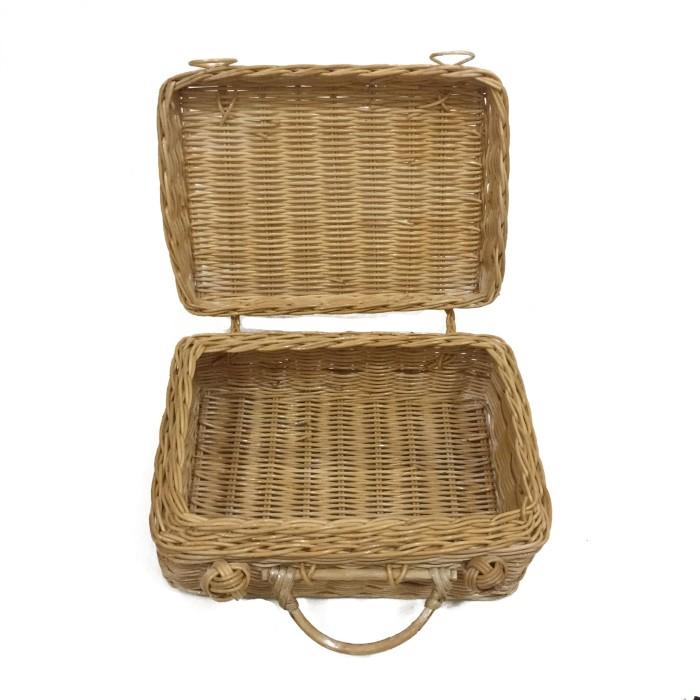 harga Kerajinan tangan rotan - tas koper kotak medium 28 x 19 x 13cm Tokopedia.com