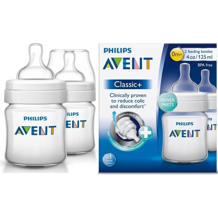 harga Philips avent baby classic bottle 125ml twin pack/ botol susu dot bayi Tokopedia.com