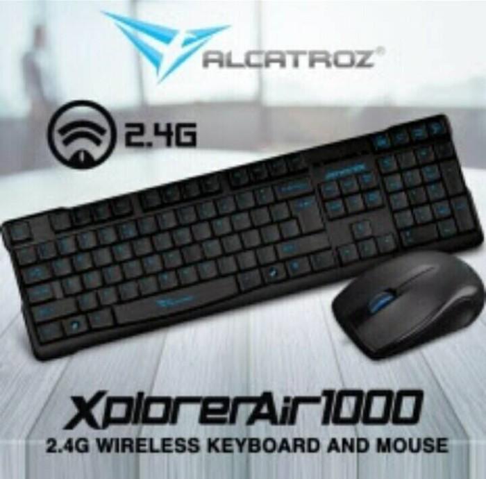 Alcatroz xplorer air1000 wireless keyboard mouse combo garansi 1th