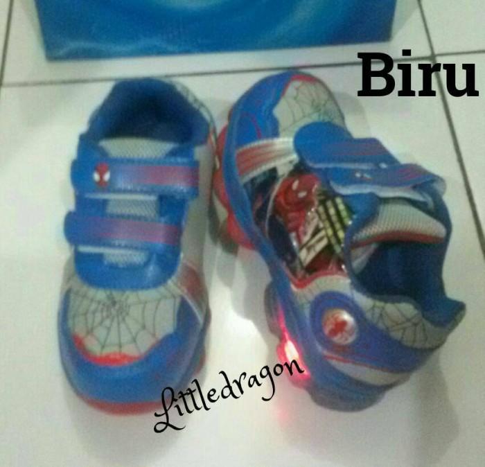 harga Sepatu spiderman lampu import (30-34) #sepatu kets anak Tokopedia.com