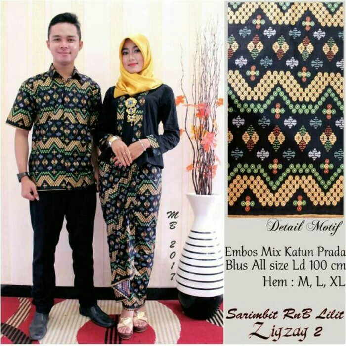harga Batik kebaya couple / sarimbit lilit zigzag Tokopedia.com