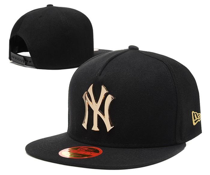 Jual Topi Snapback New York Yankees NY Hitam Emas Gold Metal New Era ... faa66d8d5a