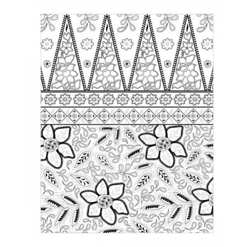Import Batik Colouring For Adults Book Mewarnai Coloring Indonesia