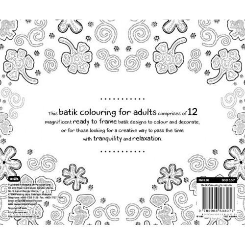 Gambar Import Batik Colouring For Adults Book Mewarnai Coloring Jpeg