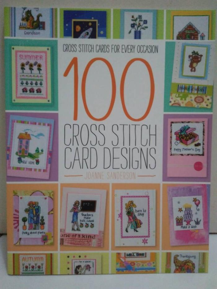 harga 100 cross stitch cards designs for every occasion buku pola kristik Tokopedia.com
