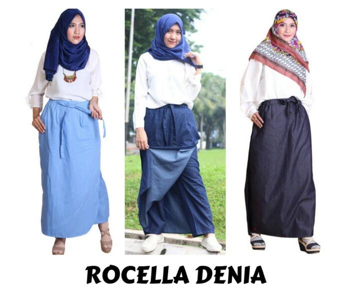Rok Celana Muslimah Rocella Denia Jeans Size S-M