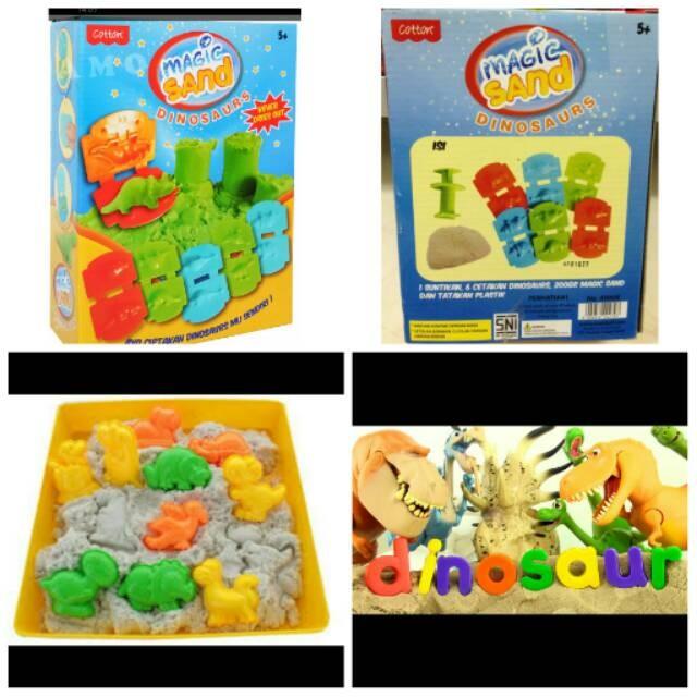 harga Magic sand dinosaurus/mainan kinetik anak/mainan pasir anak Tokopedia.com