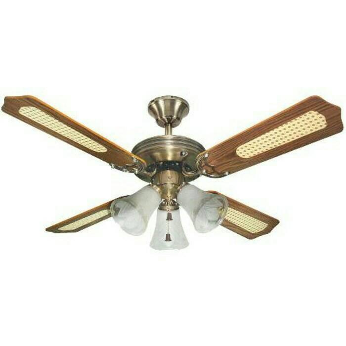 harga Kipas angin plafon ceiling fan 42' uchida cf-125eab coklat 3 lampu Tokopedia.com