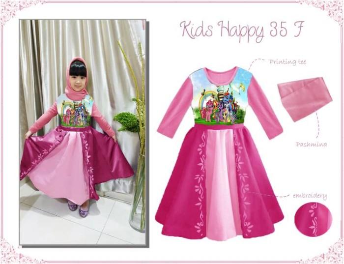 harga Baju muslim / gamis anak: kids happy 35 f - little pony (1-5 tahun) Tokopedia.com