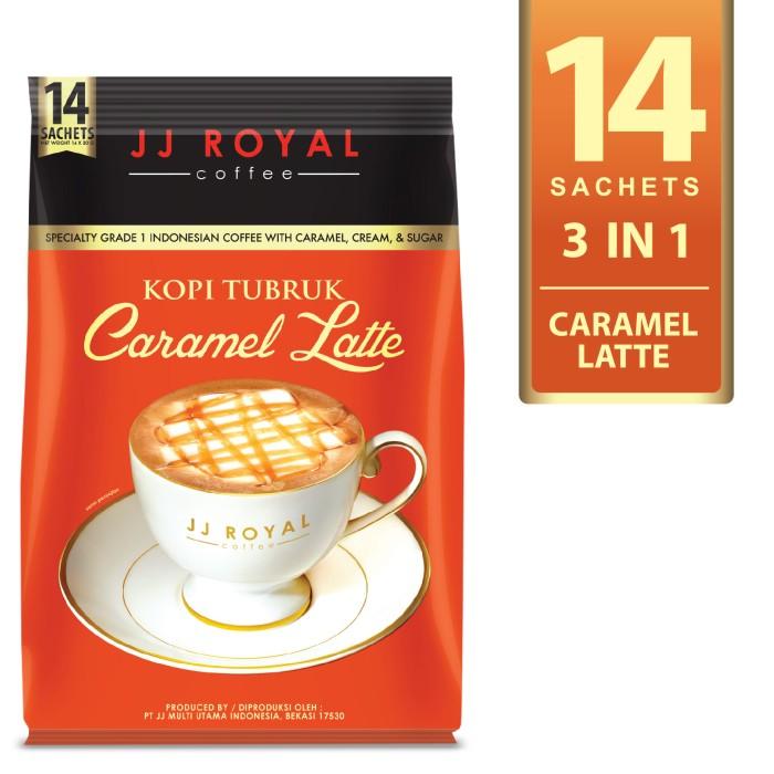 harga Coffee/kopi jj royal kopi tubruk caramel latte bulk bag 14 sachets Tokopedia.com