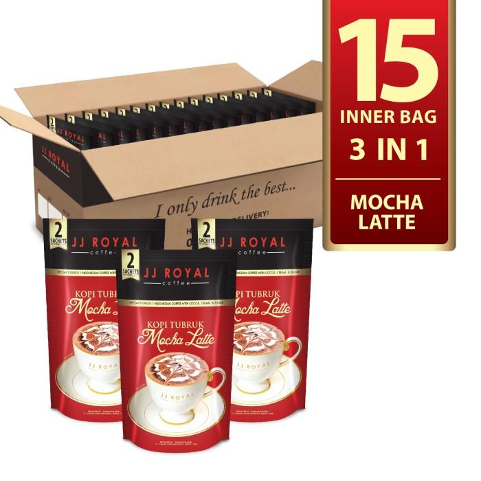 Jj royal coffee kopi tubruk mocha latte @15 inner bag