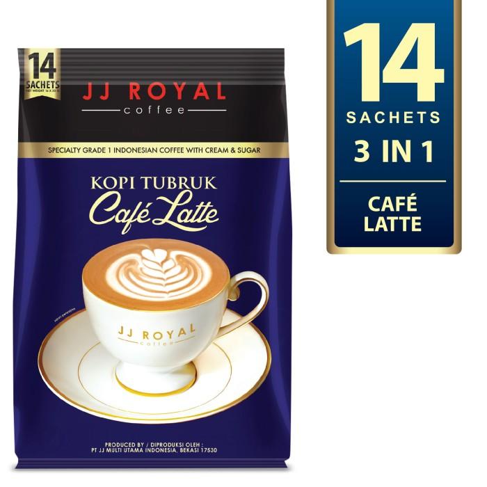 harga Coffee/kopi jj royal kopi tubruk cafe latte bulk bag 14 sachets Tokopedia.com
