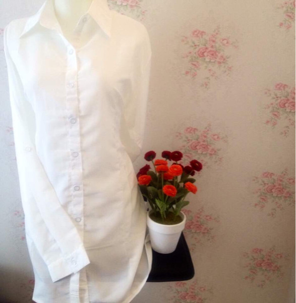 harga Kemeja blus wanita putih polos zara lembut body panjang Tokopedia.com