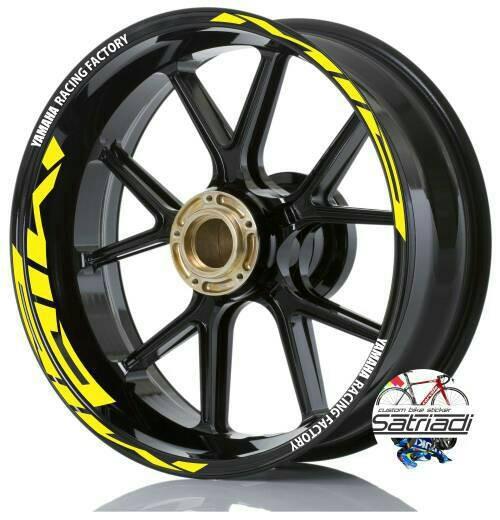 harga Stiker velg motor sticker mio strip yamaha racing factory kuning Tokopedia.com