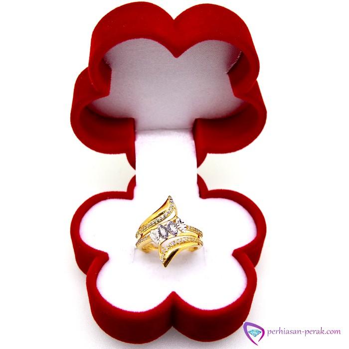 harga Cincin perak gold silver 925 crystal diamond silver 925 free box Tokopedia.com