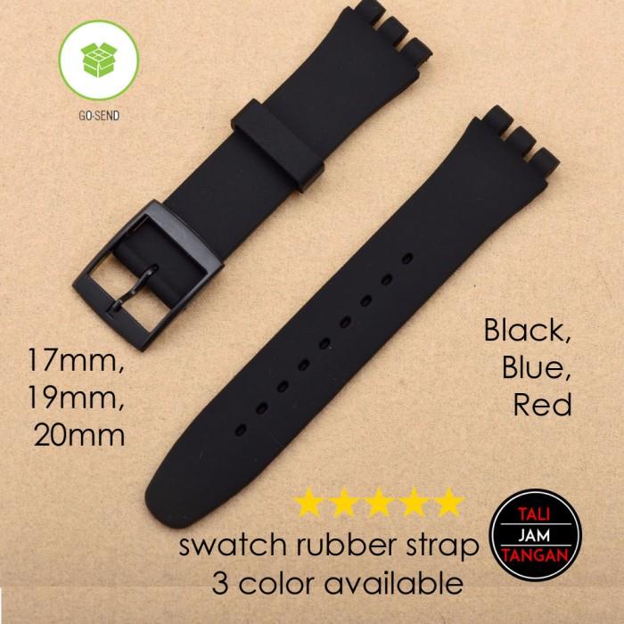 Jual Swatch Rubber Strap Tali Jam Tangan Swatch Karet Elastis ...