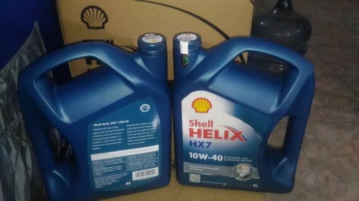 Oli Mobil Shell Helix Hx7 Sae 10w40 Kemasan Galon