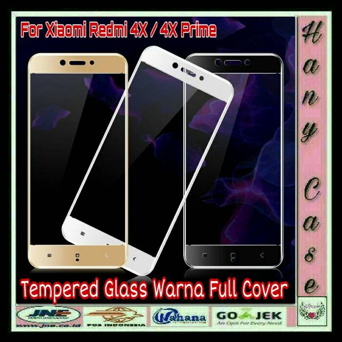 TEMPERED GLASS COLOR FILM FOR XIAOMI REDMI 4X ANTI GORES KACA WARNA