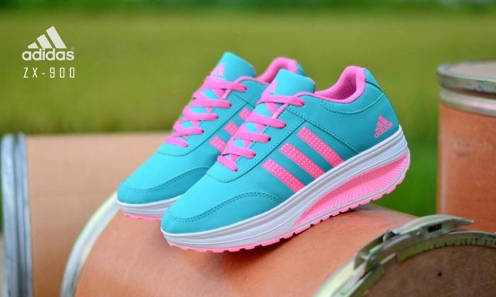 Sepatu wedges adidas sneakers women terbaru branded