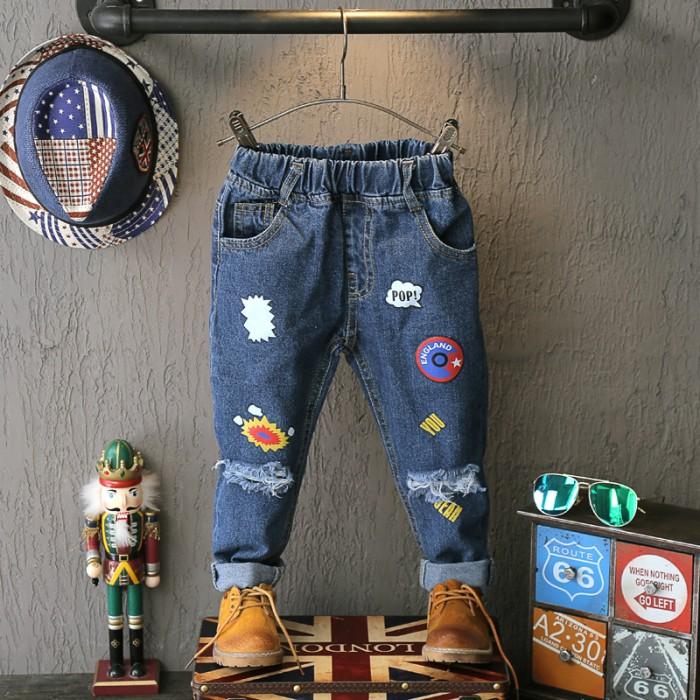 harga Celana anak laki-laki : celana jeans panjang ripped pop Tokopedia.com