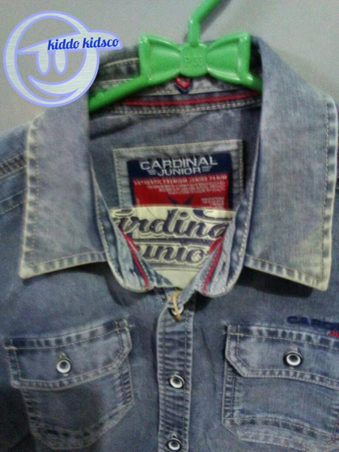 pakaian,baju kemeja jeans denim anak cowok cardinal junior original 1