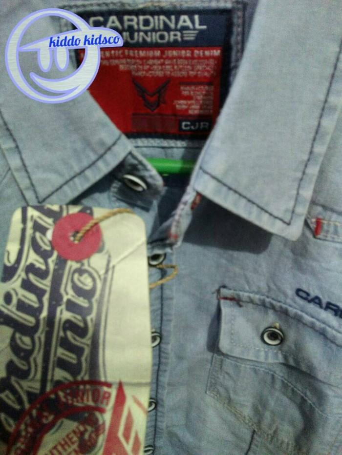 baju kemeja anak laki-laki / cowok jeans denim cardinal original 1