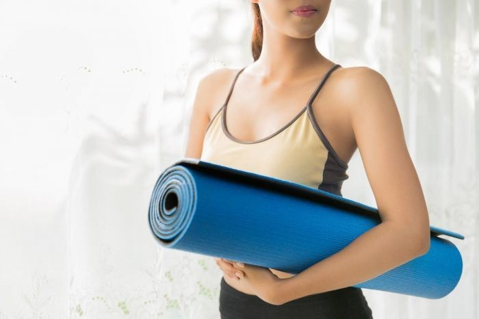 harga Yoga mat matras yoga pilates fitness gym free tas jaring Tokopedia.com