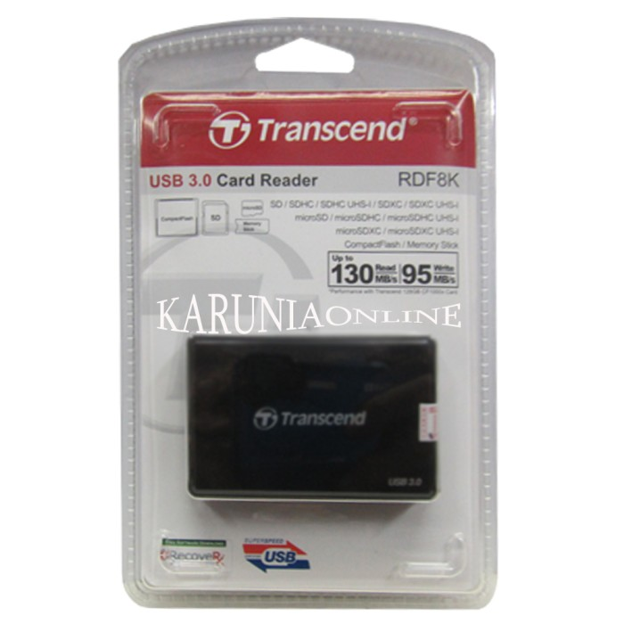 harga Transcend card reader rdf8 black usb 3.0 all in 1 Tokopedia.com