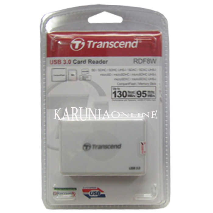 harga Transcend card reader rdf8 white usb 3.0 all in 1 Tokopedia.com