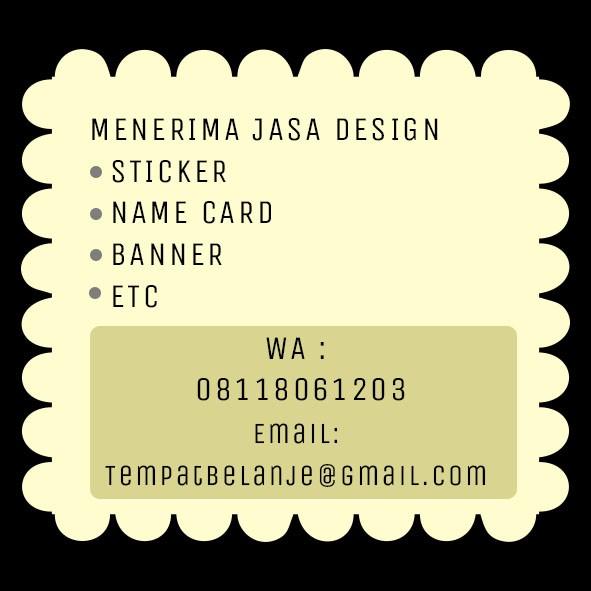 harga Jasa design stiker / sticker dan kartu nama / name card Tokopedia.com