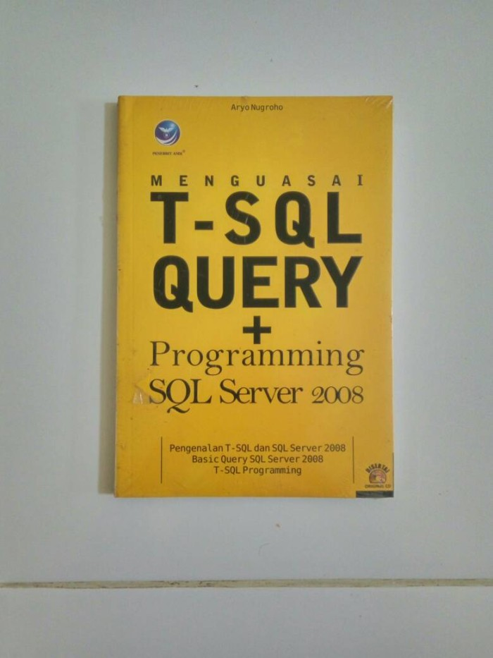 harga Menguasai t-sql + programming sql server 2008/rdbms/buku komputer pc Tokopedia.com