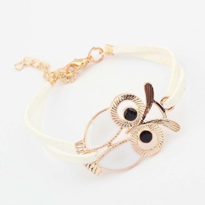 Jual Gelang Burung Hantu Owl Simple Strap Bracelet Jge036