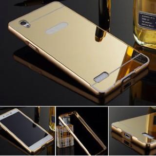 Aluminium Bumper With Mirror Backdoor Slide - Rose Gold + Free iRing.
