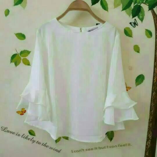 Felsa blouse putih white - tunik - top - atasan wanita - baju…