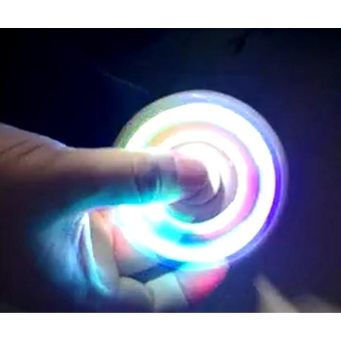 LED Fidget Spinner Tri-Spinner EDC Ceramic Ball Focus Games