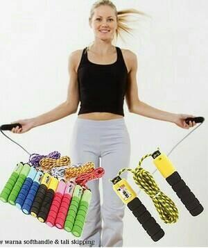 ... harga Tali skipping dengan penghitung loncatan / jump rope Tokopedia.com