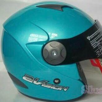 harga Kyt 2 vision ice blue biru muda 2vision helm double visor Tokopedia.com