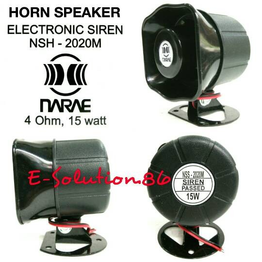 harga Horn speaker / sirine mobil narae nsh-2020/nsh-1415 6 tone 4ohm 15w Tokopedia.com
