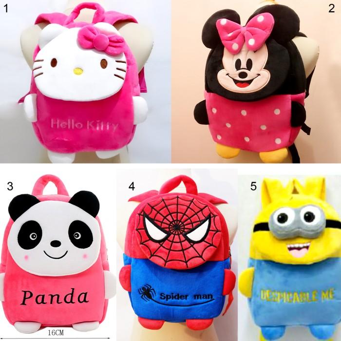 harga Tas Ransel Boneka Hello Kitty Minnie Panda Spiderman Minion Despicable Tokopedia.com