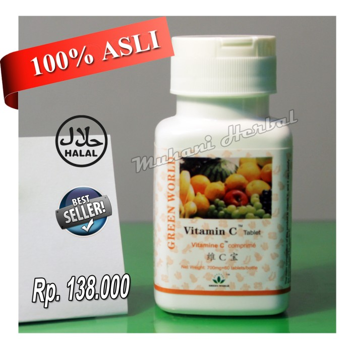 Jual Vitamin C Tablet Green World 100 Asli Original Produk