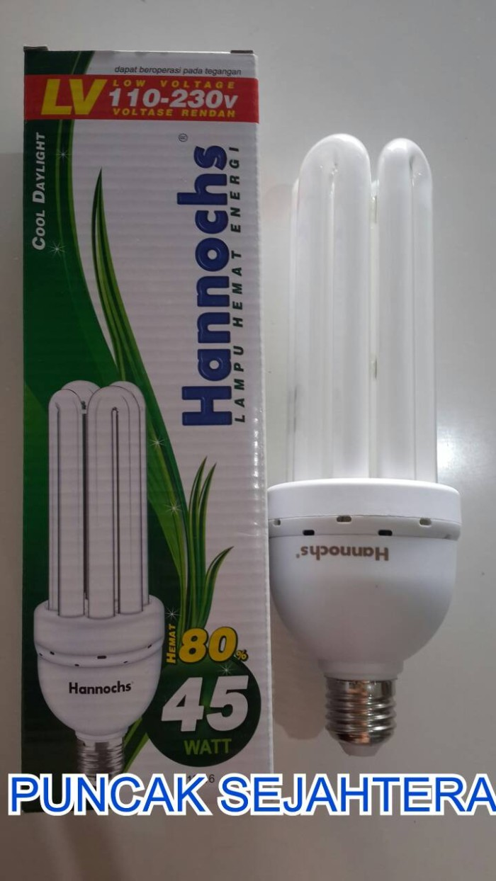 harga Lampu plc hannochs 4u 45w 45 watt neon / jari lv low voltas Tokopedia.com